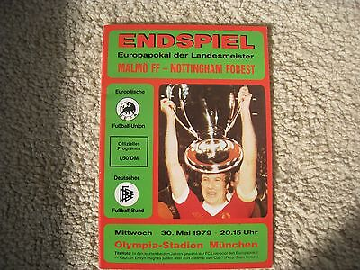 1979 european cup final programme malmo ff v nottingham forest