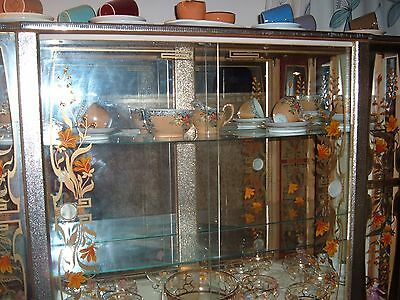 antique display cabinet.