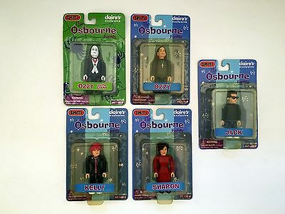 NIB - (5) SMITI Collectable Figures  - The Ozzy Osbourne Family