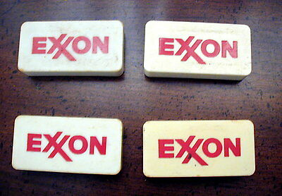 4 Exxon Magnets collectible rare style vintage gas oil