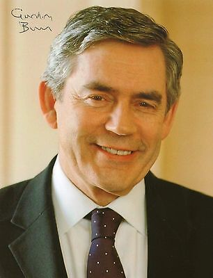Gordon Brown British Prime Minister Hand Signed Autograph Photo 7X5 - Very Rare