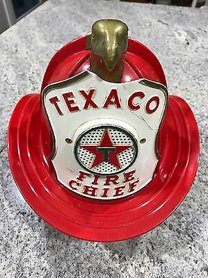 Vintage 1960s Texaco Fire Chief Collectible Toy Firefighters Helmet Hat