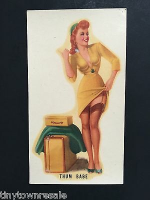Vintage PIN-UP GIRL Window Car DECAL Sexy HITCHHIKER Meyercord MODEL ACCESSORIES