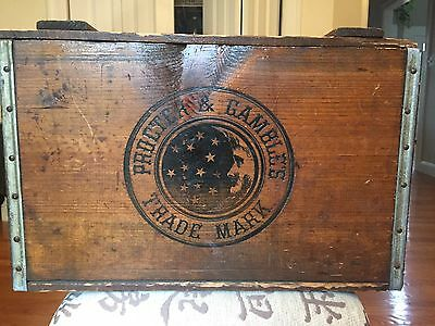 Ivory Soap Wood Crate, Wooden Crate Box, Proctor & Gamble