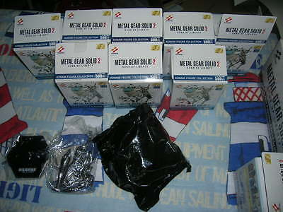 Metal Gear Solid 2 Sons of liberty gashapon mini figures silver set 8/8 complete