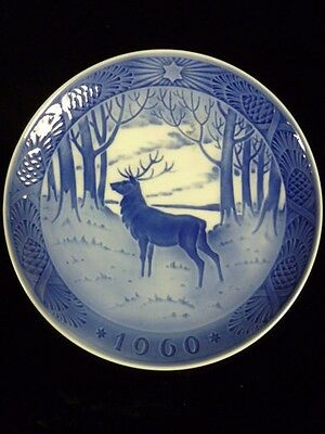 Royal Copenhagen 1960 Christmas Plate - The Stag by Hans H. Hansen