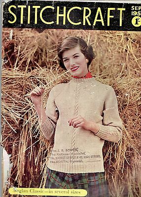 Vintage retro Magazine Stitchcraft  SEPTEMBER 1956 Great lots of things to make
