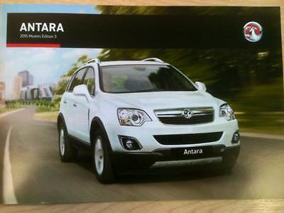 Vauxhall - The Antara Sales Brochure Edition 3 - 31 Pages Oct 2015