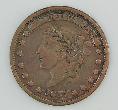 """1837 Hard Times Token """"Not One Cent For Tribute""""/""""Millions For Defence"""" *Z64"""