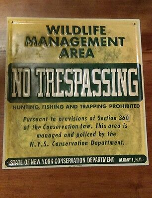 New York State Wildlife Conservation Sign Metal