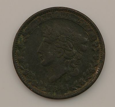 """1841 """"Not One Cent"""" Hard Times Token *Q81"""