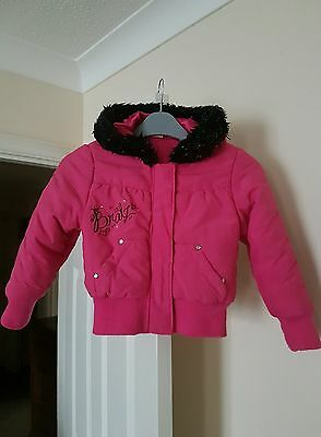 "Girls Beautiful Pink "" BRATZ "" Winter Coat Age 4-5 yrs"