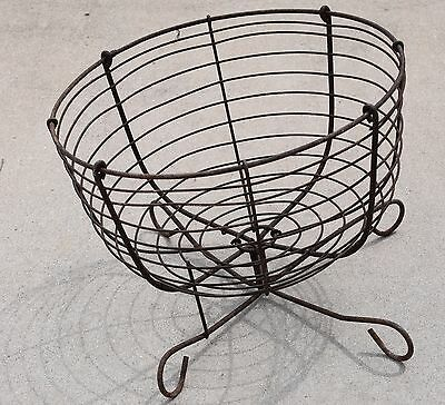 Antique Iron Wire Flower Garden Basket Planter