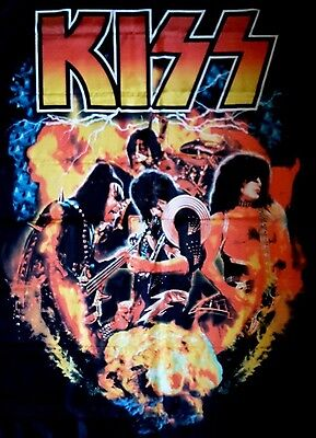 """KISS 'World Domination' 30""""x 40"""" Textile Fabric Poster """"Brand New"""""""