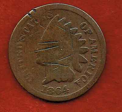 United States One Cent 1864  .indian Head