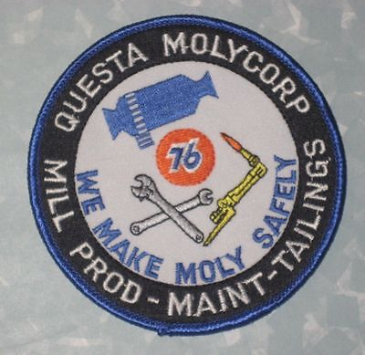"Questa Molycorp Patch - Mill Prod-Maint-Tailings - Union 76 - 3 7/8"" x 3 7/8"""