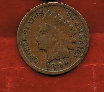 United States One Cent 1894 .indian Head [1]