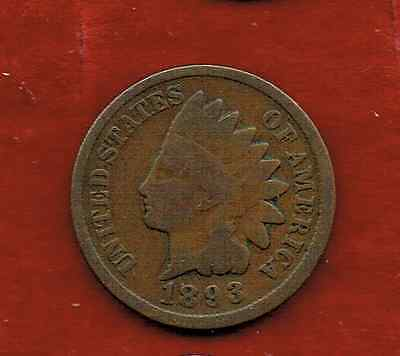 United States One Cent 1893 .indian Head [3]