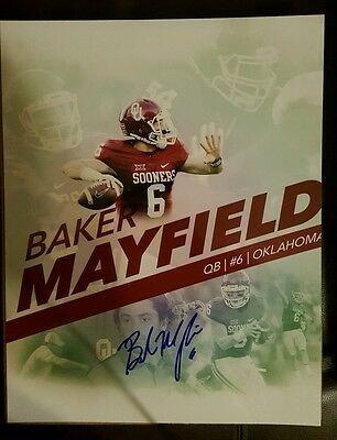 Baker Mayfield signed 11x14 custom edit Oklahoma Sooners auto