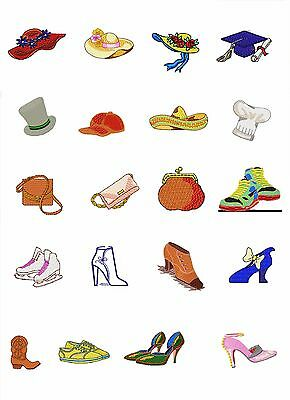 220 Hats, Bags, Shoes & Boots - Machine EmbroideryDesigns