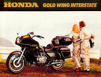 1980 Honda Gl1100 Gold Wing Interstate Motorcycle Brochure -Gl 1100-Goldwing