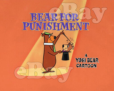 Rare! YOGI BEAR SHOW Cartoon Color Photo HANNA BARBERA Studios TITLE CARD