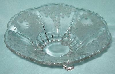 Viking New Martinsville Radience Meadow Wreath Footed Console Bowl