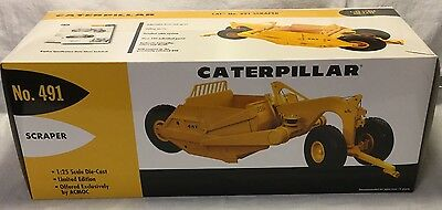 New In Box Limited Ed Caterpillar 491 Scraper 1/25 First Gear Vintage ACMOC