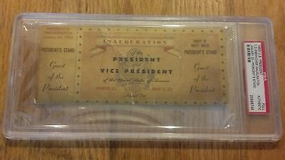 1953 President Dwight Eisenhower Inauguration GUEST OF THE PRESIDENT TICKET PSA