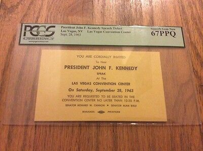 September 28, 1963 President John F. Kennedy Las Vegas Speech PCGS 67PPQ