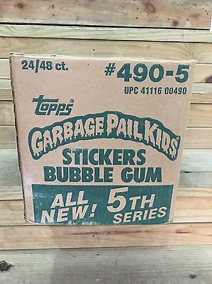1986 Topps Garbage Pail Kids Series 5 factory sealed 24 box case Green Ghost 10?