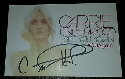 CARRIE UNDERWOOD signed auto TWO BLACK CADILLACS x2 Postcard