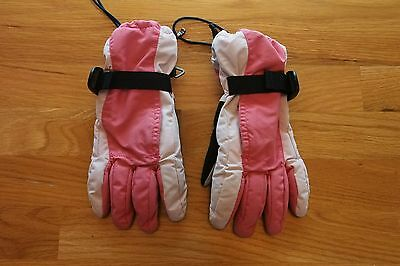 Land's End Girls Waterproof Squall Gloves, Size M, Pink, Winter - Ski - Snow
