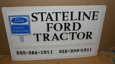 Vintage Stateline Ford Tractor Sign