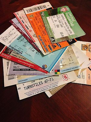 11 Different Manchester United 2008/09 Premiership Wining Season  Away Tickets