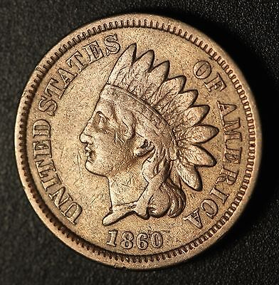 1860 INDIAN HEAD CENT - With LIBERTY - VF VERY FINE