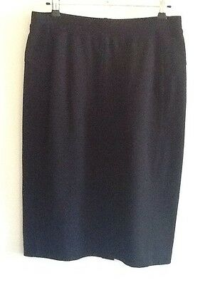 VERONIKA MAINE ( CUE) Very Black STRETCH Skirt Size M Unwanted Gift