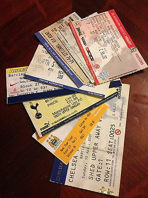 8 Different Manchester United 2006/07 Premiership Wining Season  Away Tickets