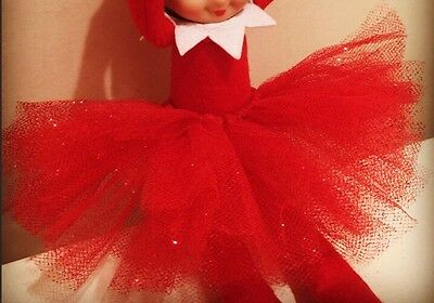 Magic Christmas Skirt Tutu Buddy On The Shelf Pixie Elf Clothes Red