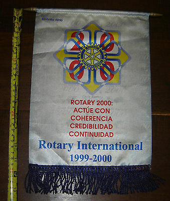 ROTARY CLUB  Buenos Aires DISTR 4890 vintage PENNANT BANNER Argentina