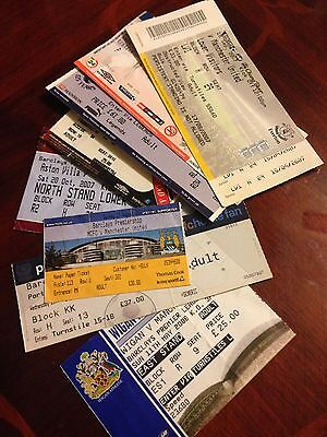 8 Different Manchester United 2007/08 Premiership Wining Season  Away Tickets