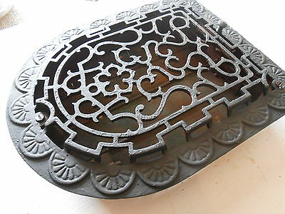 Antique Cast Iron Arch Top Dome Heat Grate Wall Register Vintage