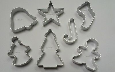CHRISTMAS Cookie Biscuit Cutter Metal Aluminium Mold Mould Baking Tool Brand New