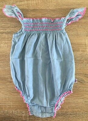 Baby Girls Size 1 Or 12-18 Month Romper EUC
