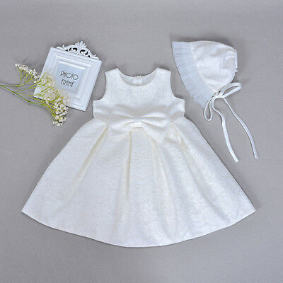 0-18m newborn toddler baby girl wedding party christening baptism gown dress