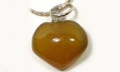 Antique 13ct Carnelian Heart Pendant Ancient Rome's #1 Gemstone