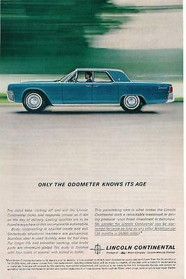 Vintage Magazine Ad - 1962 - Lincoln Continental - blue