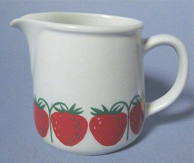 Arabia of Finland Pomona Strawberry Creamer White and Red
