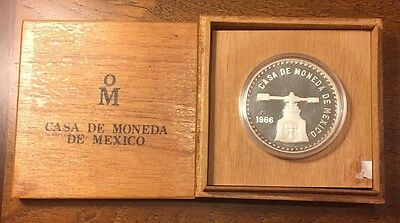 1986 5 oz Mexican Mint Silver Onza Proof Coin Press #2981 of 10,000