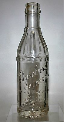 RARE** CHAMBERS BEVERAGES Pop Bottle - PORT COLBORNE, ONTARIO - 6-1/2 Ozs